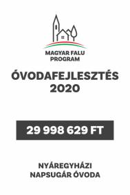 Óvodafejlesztés 2020